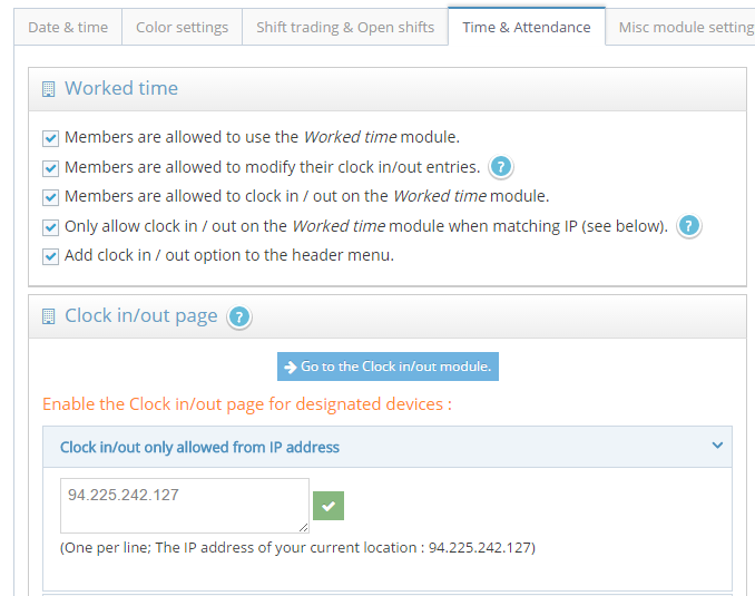 ClockIt-Online :: Online worked time registration